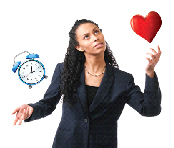 Busy Woman Juggling Time and Heart Health