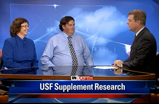 Dr Paula Bickford and Dr Brent Small on Bay News 9 discussing the benefits of NutraStem Cardio and how it was used in their recently published study.